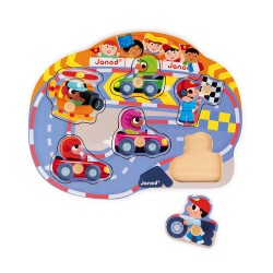 Puzzle Happy Racing 6 pcs -  JANOD