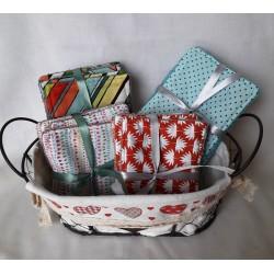Kit de 6 carrés démaquillants lavables biface coton et éponge