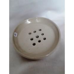 Porte savon en terre cuite (blanc)